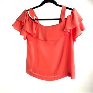 J. Crew Factory Ruffle Off-the-Shoulder Tank